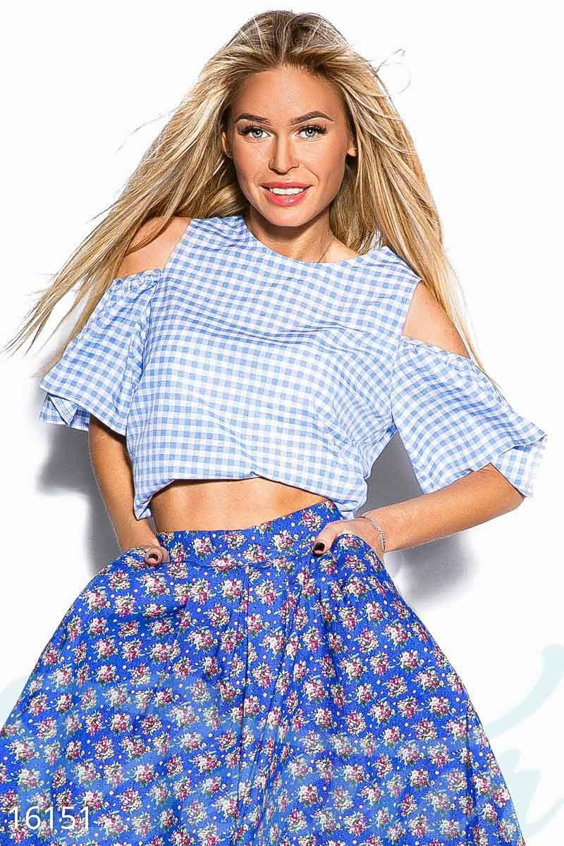 Летняя укороченная блуза Gepur 16151