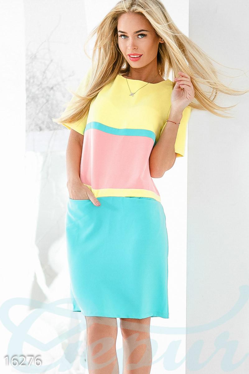 Летнее платье color block Gepur 16276