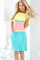 Летнее платье color block Gepur 16276, фото 1