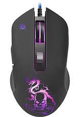 Мышка Defender Sky Dragon GM-090L USB + коврик Черный, фото 2