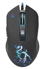 Мышка Defender Sky Dragon GM-090L USB + коврик Черный, фото 3