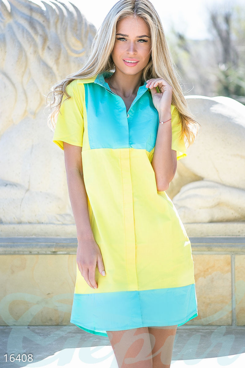 Яркое платье-рубашка Gepur 16408