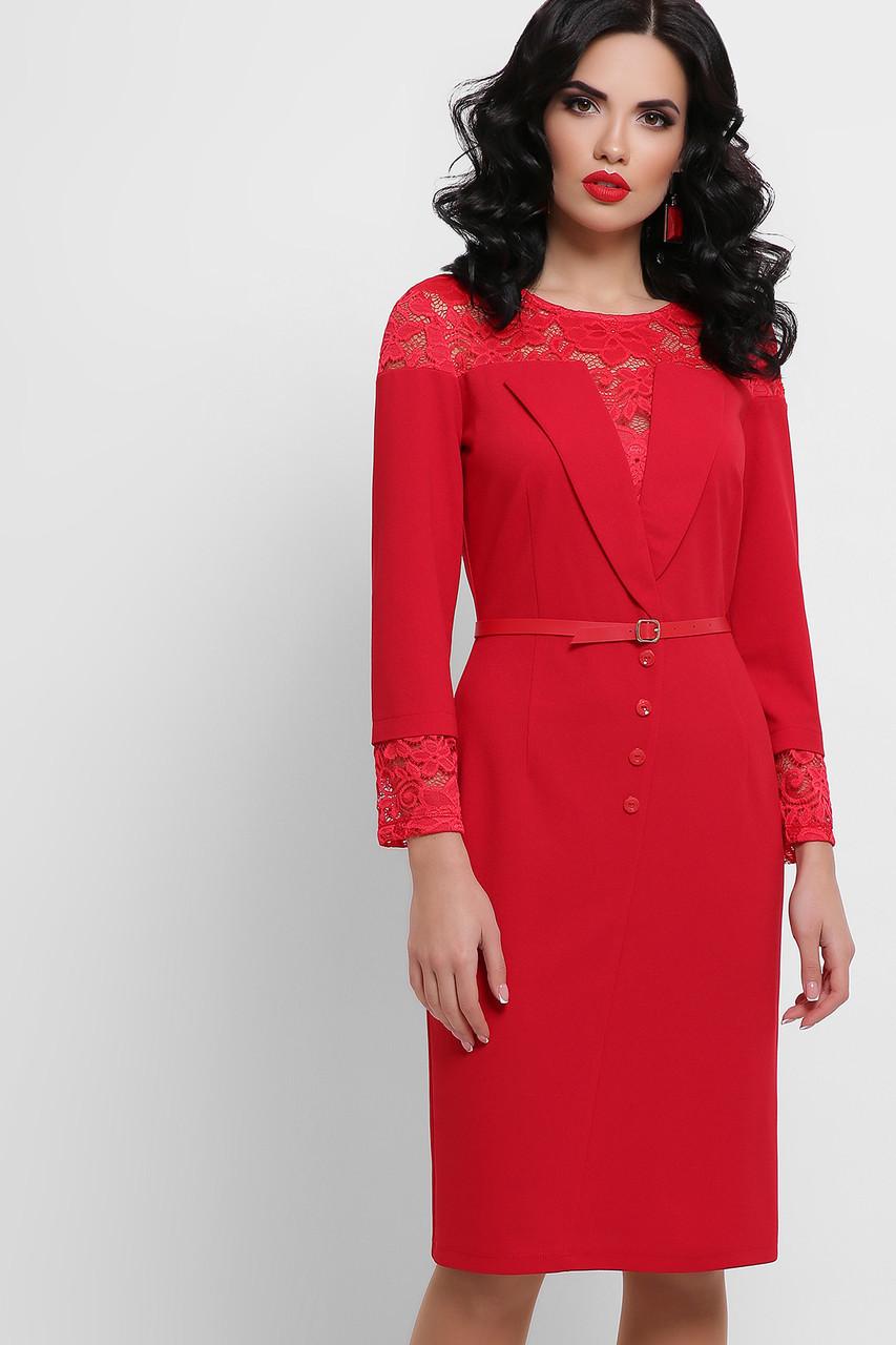 Нарядна жіноча сукня з кружевом