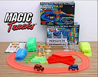Гоночна траса Magic Tracks 360 деталей, медик трек, з мостом і 2-ма машинками, фото 1