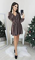 Праздничное платье из люрекса р. 42,44,46,48 Шоколад, фото 1