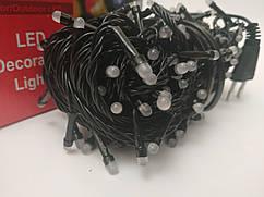 Гирлянда новогодняя Нить (линза матовая) светодиодная LED 100 лампочек
