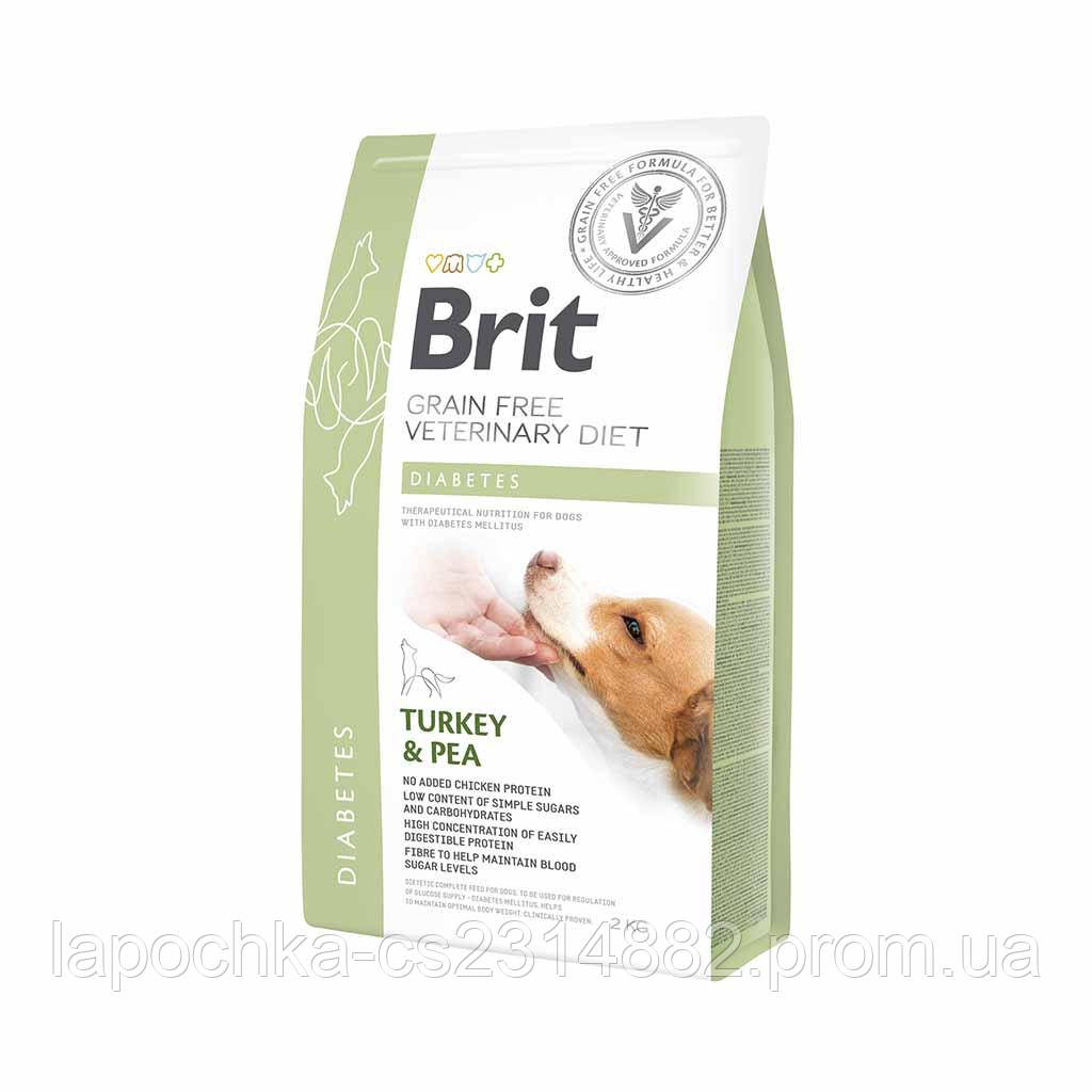 Корм Brit GF Veterinary Diets Dog Diabetes беззерновая диета для собак при сахарном диабете