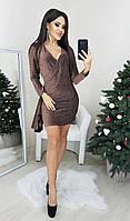 Нарядное красивое платье из люрекса р. 42,44,46,48 Шоколад, фото 1