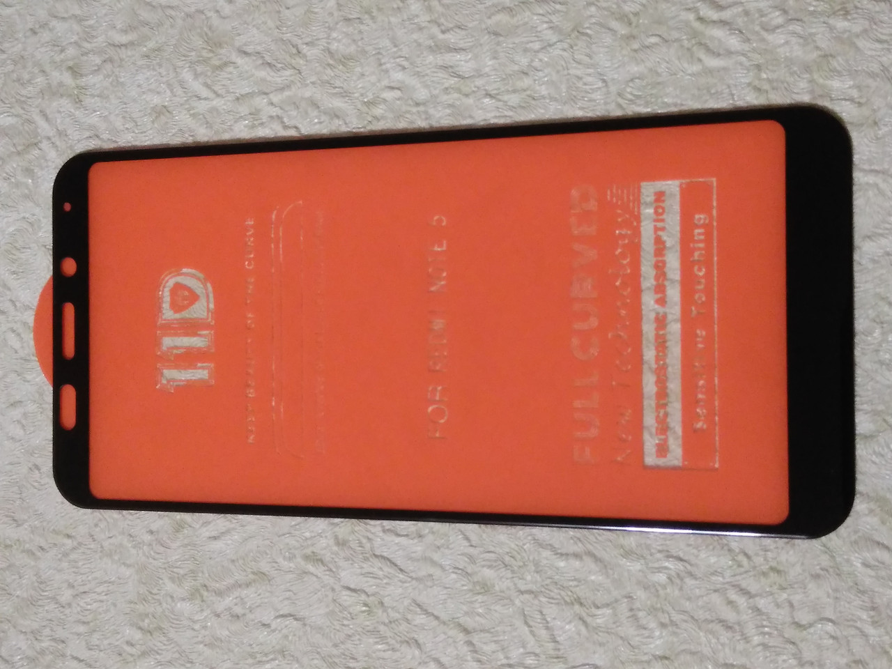 Защитное  11D стекло  Xiaomi  Redmi 5 plus  (черн.)