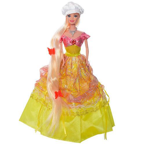 Кукла 68024 длинные волосы шарнирная с мебелью кухня