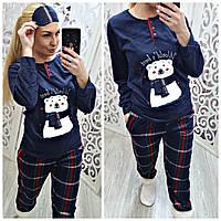 Зимняя женская теплая пижама Турция, фото 1