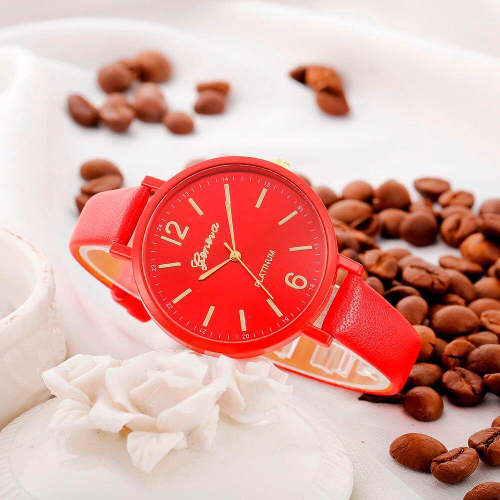 """Женские наручные часы """"Geneva"""" (красный)"""