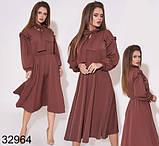 Модное женское платье миди с длинным рукавом 42, 44, 46, фото 2