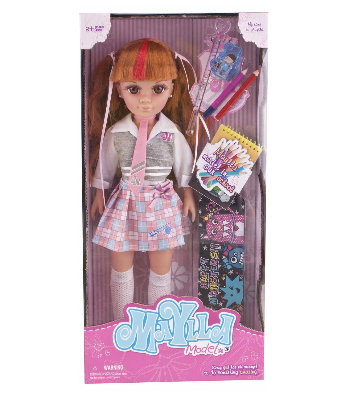 Кукла 43 см со школьными аксессуарами