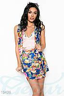 Стильный цветочный костюм Gepur 15436