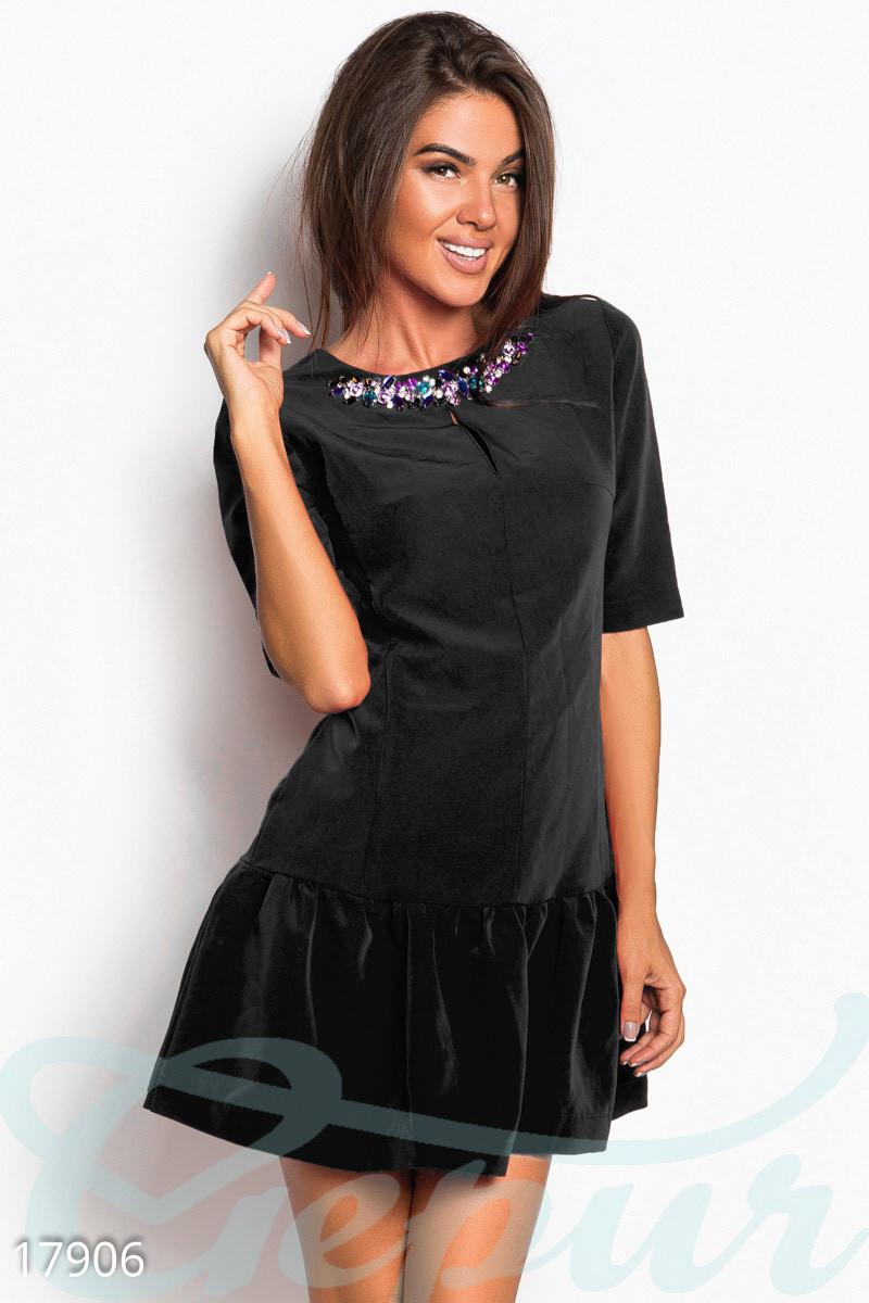 Короткое платье-трапеция Gepur 17906