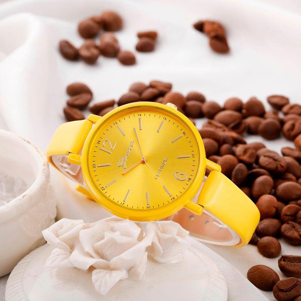 "Женские наручные часы ""Geneva"" (желтый)"
