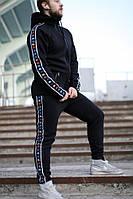 Спортивные зимние штаны Kappa Black Colored универсальные (мужские, женские)
