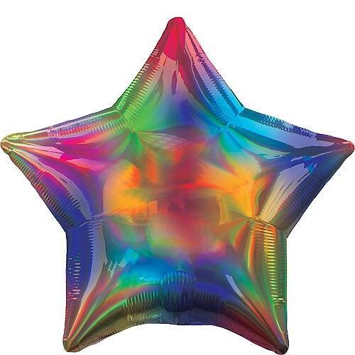 Фольгированная звезда Хамелеон с гелием, 45 см