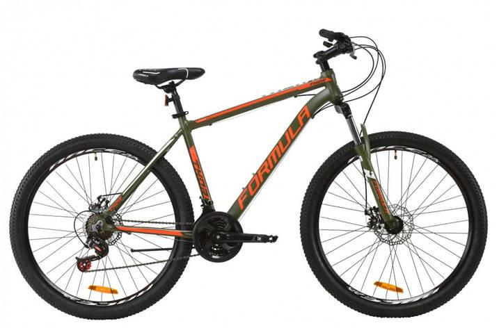 """Велосипед горный мужской 27.5"""" Formula Thor 2.0 DD 2020 алюминиевая рама 19"""" хаки с красным и белым, фото 2"""