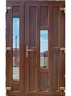 Входные двери ламинация орех