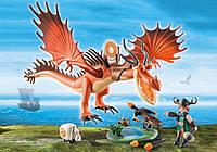 """Игровой набор Playmobil """"Как приручить дракона 3"""" Кривоклык и Сморкала (9459)"""