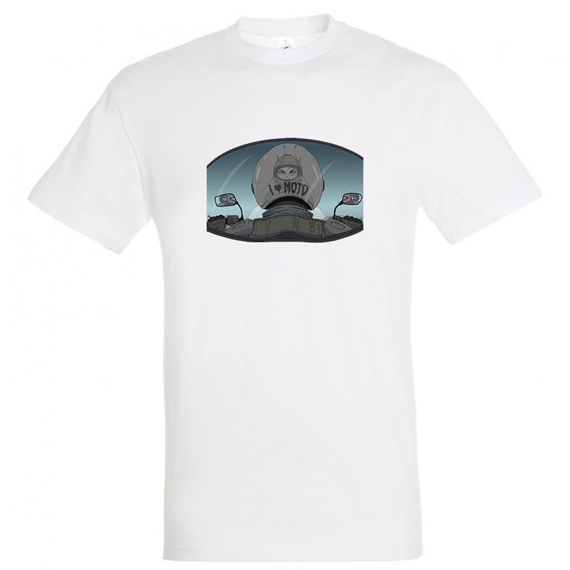 "Байкерская футболка ""I Love Moto"""