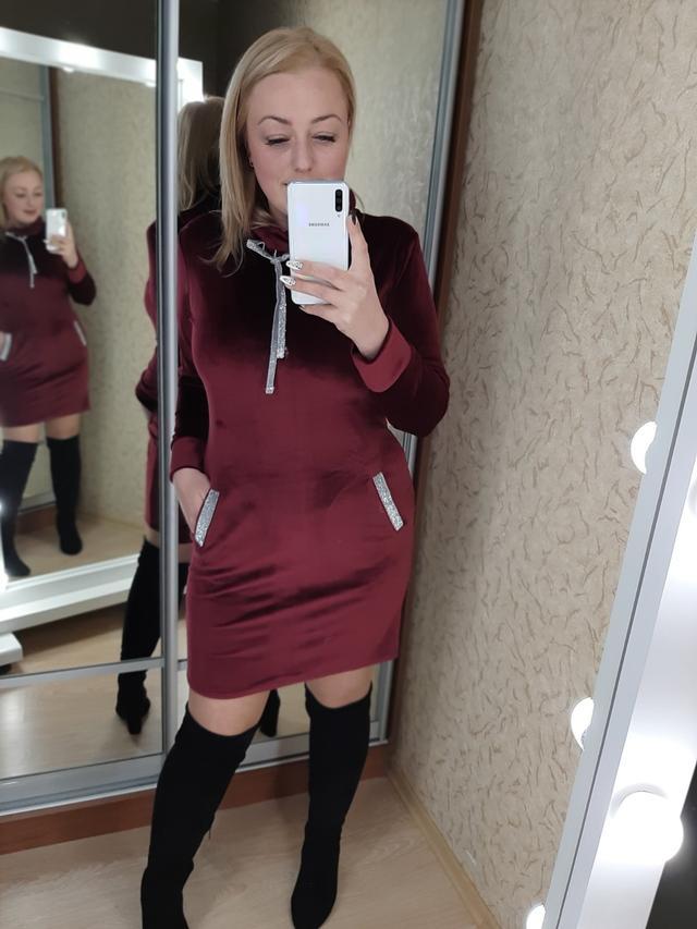 фото платье из велюра