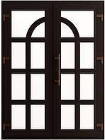 Входные двери ламинация тёмный дуб