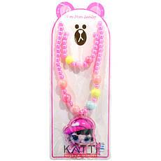 KATTi набор детский 29 776 LOL 2в1 бусы с большой подвеской, браслет, фото 2