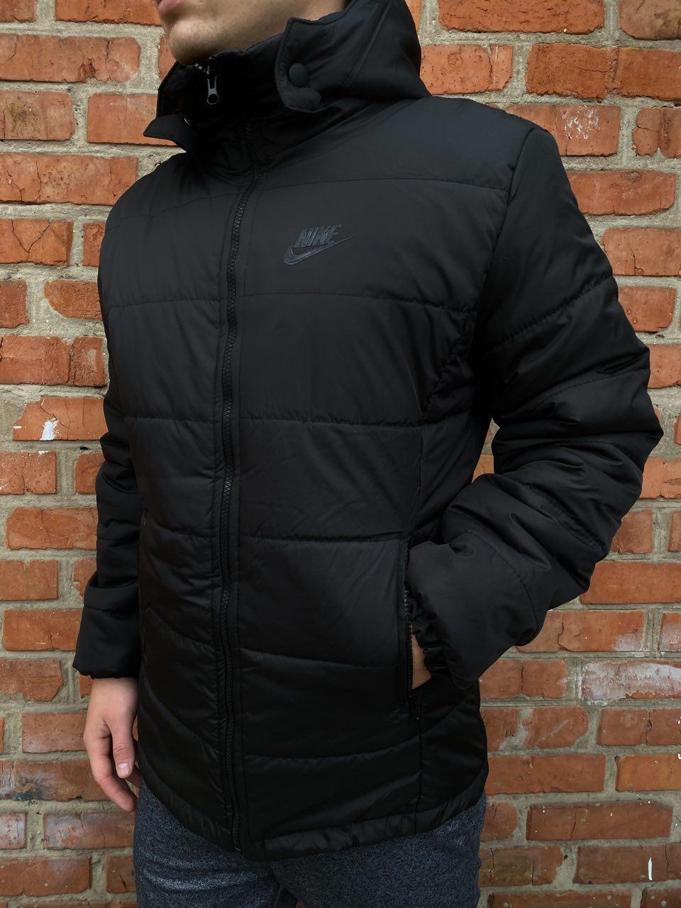 Демисезонная черная Куртка Nike, найк РАСПРОДАЖА Размер S