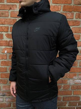 Демисезонная черная Куртка Nike, найк РАСПРОДАЖА Размер S, фото 2