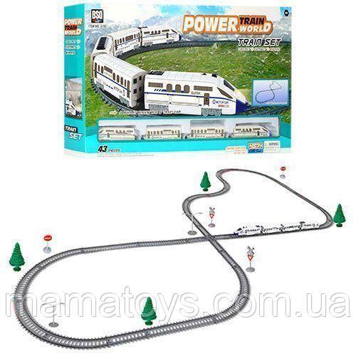 Детская железная дорога 2183 локомотив, свет, вагоны длина пути 457 см