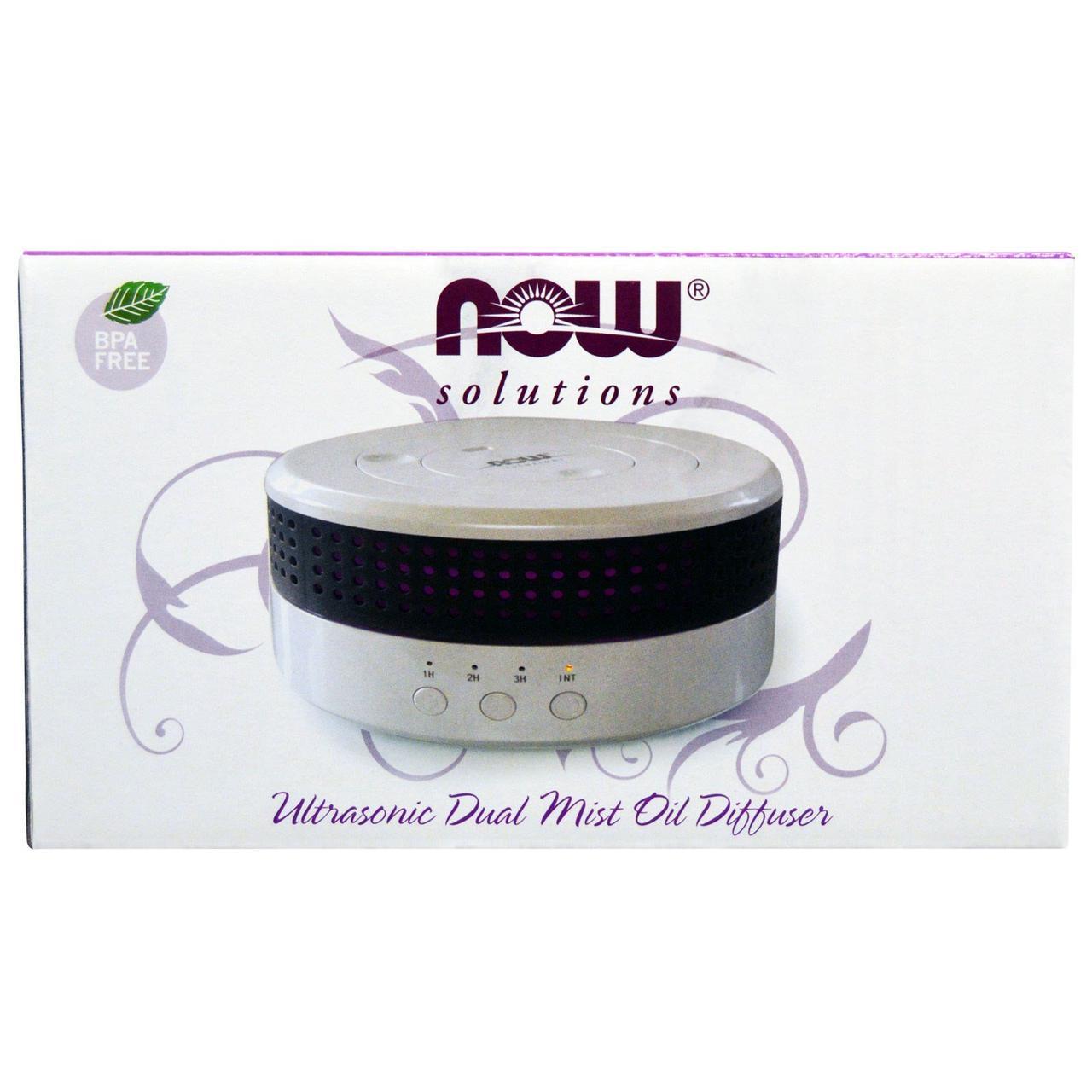 Ультразвуковой диффузор (Ultrasonic Dual Mist Oil Diffuser), Now Foods, 1 шт.