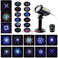 Уличный лазерный проектор Новогодний уличный  3 цвета RGB Star Shower Moving Garden Lb28