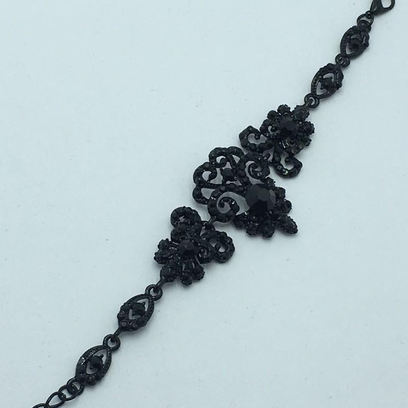 """Вечерний браслет """"Valadi"""", черного цвета, нарядный."""