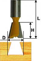 Фреза пазовая ласточкин хвост ф12.7х14°, хв.8мм (арт.9316)