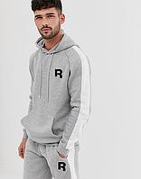 Мужской  спортивный костюм  для тренировок Reebok, Рибок, в стиле, серый