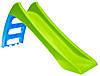 Горка детская пластиковая Mochtoys 123 см салатовая спуск для детей (гірка дитяча пластикова салатова)