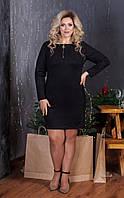 Платье больших размеров из замши нарядное  50,52,54,56, фото 1