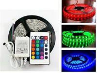Универсальная Светодиодная лента LED RGB 5050  комплект 5 метров (разный цвет) + Пульт Управления