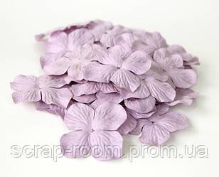 Гортензии большие фиолетовые, гортензии фиолетовые 5 см, бумажная гортензия 5 см, цветы гортензия 5 см