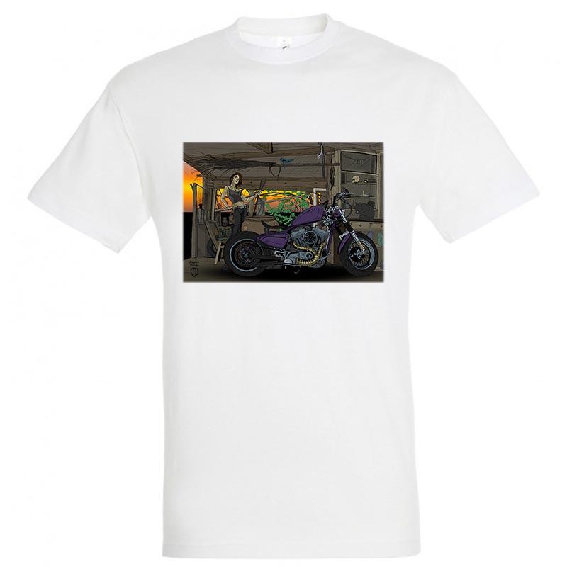"Байкерская футболка ""Мотоведьма"""