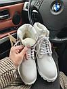 Женские зимние ботинки Timberland white, фото 5