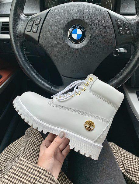 Женские зимние ботинки Timberland white