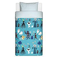 Дитяча постіль, детская постель, комплект постельного белья, постель LATTJO IKEA, 103.511.82