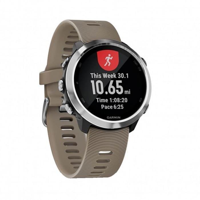 Смарт-годинник Garmin Forerunner 645 Sandstone with Stainless Hardware з Сірим ремінцем