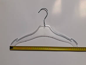 Вешалки, тремпеля, плечики для одежды металлический крючок 36см Прозрачные, фото 2