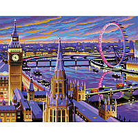 Набор для творчества картина раскраска по номерам Лондон Sequin Art SA0422