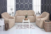 Комплект чехлов 3-1-1 VENERA (на диван и кресла, ткань - плюш)